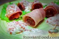 Холостяцкий ужин № 6. Закуска из сёмги под сметанно-икорным соусом