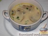 Грибной сливочный суп с перловкой