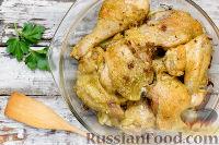 Курица, запечённая в духовке, с хлебом
