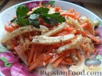 Салат из кальмара с морковью по-корейски