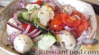 Овощной салат с сыром моцарелла