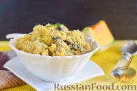 Гороховое пюре с луком и грибами