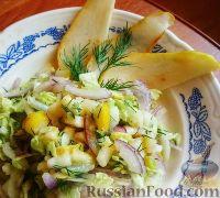 Салат из пекинской капусты с грушей