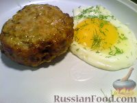 Шницель рубленый с яйцом