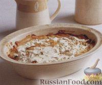 Картофель, запеченный с тунцом в сливочном соусе
