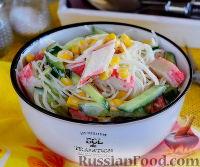 Крабовый салат с фунчозой