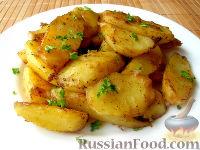 Румяная картошечка в соевом соусе, запечённая в духовке