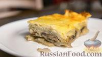 Картошка с грибами, запеченная под сыром
