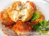 Тефтели с сыром, в томатном соусе