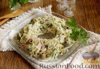 Салат из капусты с копченым мясом