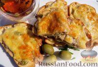 Горячие бутерброды с фаршем и сыром, в духовке