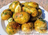 Молодая картошка в казане
