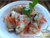 Рыба, маринованная с морковью и репчатым луком