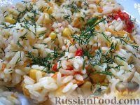 Рис с овощами постный