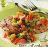 Куриное филе с дыневой сальсой