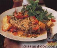 Тунец и картофель, запеченные в духовке