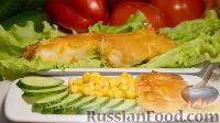 Жареная рыба в кляре из кукурузной муки