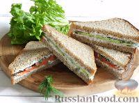 Сэндвичи с семгой и огурцами