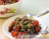 Салат с сельдью, фасолью и овощами
