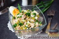 Салат с тунцом и зеленым горошком