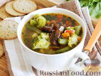 Овощной суп с шампиньонами