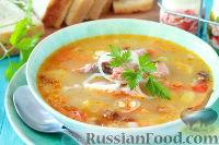 Суп из копченого лосося