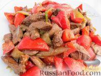 Жареная печень по-быстрому (стир-фрай из куриной печени с овощами)