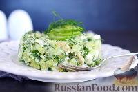 Салат с авокадо, огурцом и фетой
