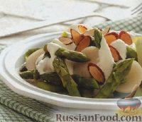 Салат из спаржи и каштанов