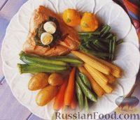 Весенние овощи с лососем