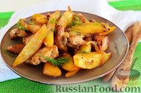 Куриная грудка с картофелем (в духовке)