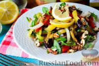 Салат из баклажанов, щавеля и перца