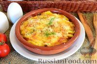 Запеканка из картофеля с помидорами и сыром