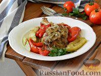 Курица с кабачками, перцем и помидорами (в духовке)