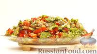 Овощной салат с фасолью (интересная заправка, без майонеза)
