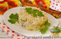 Салат с белыми грибами и курицей