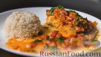 Рыба с помидорами, в духовке