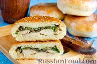 """Бутерброды """"Походные"""" с курицей и грибами"""