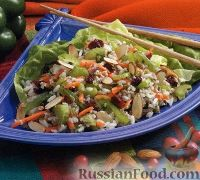 Рисовый салат с булгуром и овощами