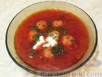Латышский свекольный суп с фрикадельками