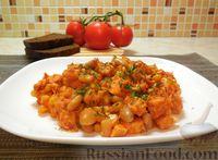 Мясное рагу с фасолью и кукурузой