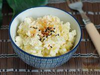Картофельный салат с адыгейским сыром и кокосовой стружкой