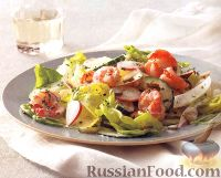 Салат овощной с креветками
