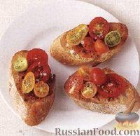 Элементарные бутерброды с помидорами