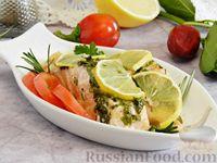 Сёмга, запечённая с лимоном и травами