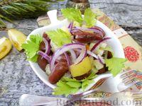 Салат из фасоли, помидоров и сельдерея