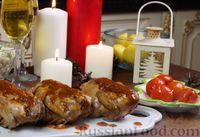 Цыплята корнишоны (или перепёлки) в соусе, с гарниром