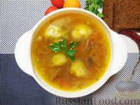 Гречневый суп с картофельными клёцками и говядиной