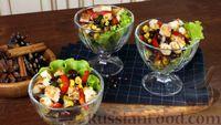 Овощной салат с чесночной заправкой