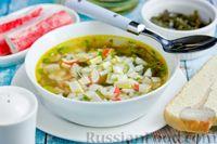 Суп с морской капустой и крабовыми палочками